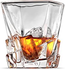 Prime Trendy European Stylish Crystal Whisky Glass Set of 6 pc | 10 oz old fashioned Whiskey Glass Set of 6 Pc | Unique Design | Perfect For Scotch | Bourbon | Irish Whisky | Brandy | Gift Box Packing | 300 ml