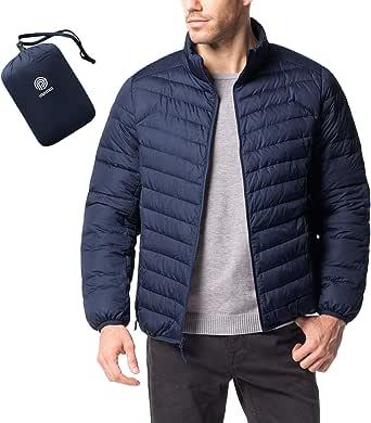 LAPASA Men's Lightweight Water-Resistant Down Jacket Breathable Windproof Packable M32