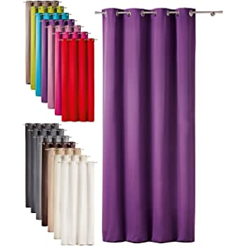 today 257301 polyester blackout curtain with eyelets 140 x 260 cm polyester pourpre foncviolet 140x260 cm