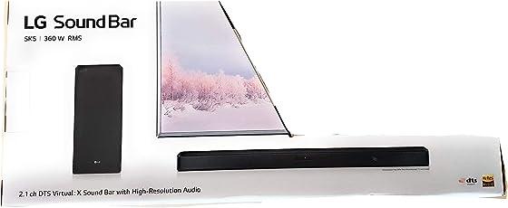 LG SK5 2.1 Ch Sound Bar Audio System (Black)