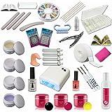 Kit de Manucure et Nail Art ultra complet - 24 accessoires dont lampe UV 36W et gels UV + gels de couleur - Sun Garden Nails