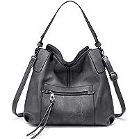 Realer Handtasche Damen Shopper Leder Umhängetasche Mittel Schultertasche Frau Elegant Henkeltasche Hobo Taschen mit…