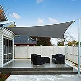 AXT SHADE Voile d'ombrage Imperméable Rectangulaire 3 x 4m Une Protection des Rayons UV pour Extérieur/Terrasse/Jardin - Colo
