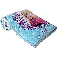 Clasiko Single Bed Micro Cotton Comforter Cartoon Print Frozen, Size -54 x 84 Inches, Multicolour, 250 GSM