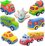 Caresale Unbreakable Pull Back Car Toys Automobile Car Set for Kids - Set of 7 | Push and Go Toys | Push and Pull Toys…