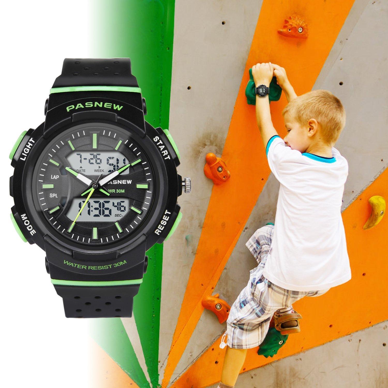 922cd54b77e3 Inicio   Estilos   Chico   Hiwatch Reloj para Niños Reloj Deportivo  Impermeable Nadando Niños Niñas Relojes de Led Digital ...