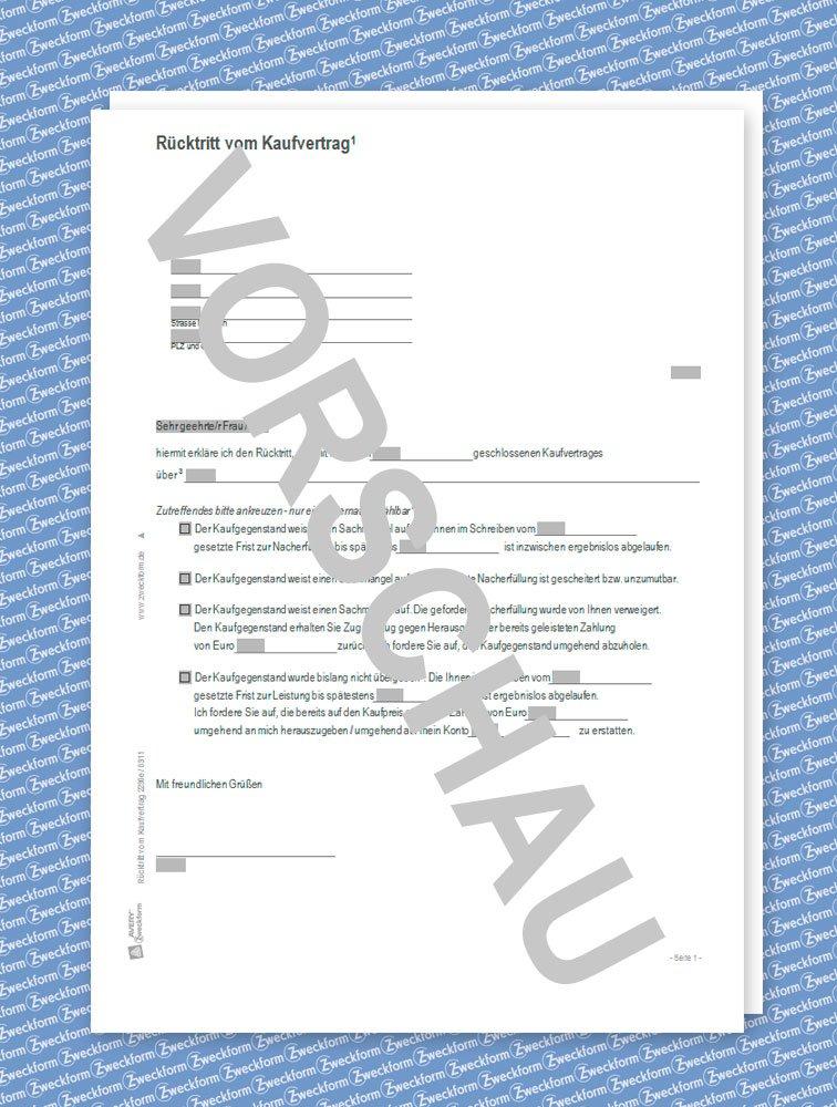 avery zweckform 2230e rücktritt vom kaufvertrag [word-download ... - Rücktritt Kaufvertrag Küche