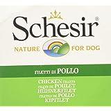 Schesir - Alimento para Perros Adultos, filetes de Pollo en gelatina, 150 g, 1 Lata