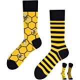 TODO COLOURS Calcetines casuales Mix & Match – Bee Bee Abee Calcetines – Multicolor, locos, multicolor