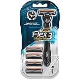 Bic Flex 3 Hybrid Rakhyvlar för Män med 4 Blader, Svart