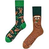 Many Mornings Sloth Life Calze multicolori bradipo, foglie, alberi, natura, foresta