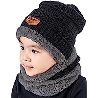 Twilker 2 Pezzi Bambini Cappelli Invernali Sciarpa Set, Bambina Cappello Lavorato a Maglia Sciarpa Inverno Invernali…