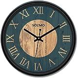 Amazon Brand - Solimo Design16 12-inch Plastic Wall Clock (Black Frame)
