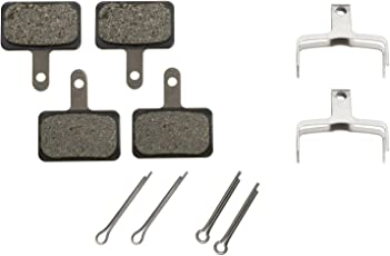 2 Pairs Shimano Disc Brake Pads & Spring B01S (Resin) by Shimano