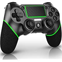 QULLOO Controller für PS4, Wireless Bluetooth Controller mit Dual Vibration / 6-Achsen/Audiofunktionen/TouchPad, Gamepad…