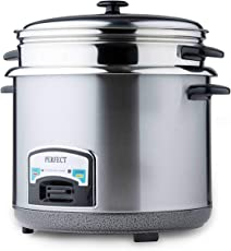 PERFECT PLAZA Rice Cooker (Steel) 1.8