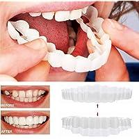 Happy event 1 paire de brosses à dents Teeth Whitening Comfort Fit Cosmetic Dents Prothesenze Cosmetic Sticker haut Bretelles + bas Bretelles