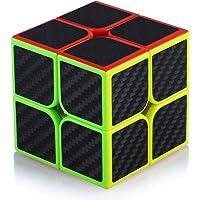 Cube de Vitesse Magique 2x2 2x2x2 Speed Cube Magic Cube Fibre de Carbone Autocollant Cadeau de Vacances pour Enfants…