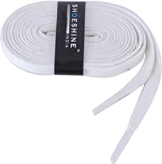 Shoeshine India cotton shoe laces 7mm wide (3 Pair ) for casuals, vans or converse type sneakers or boot