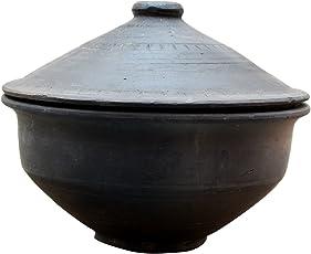 Terracotta Clay Curd Pots ( color : Black )