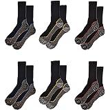 Sock Stack Work Socks 6 Pairs Of Men's Bamboo Breathable Anti Sweat Heavy Duty Anti Bacterial Summer Work Sock, UK 6-11