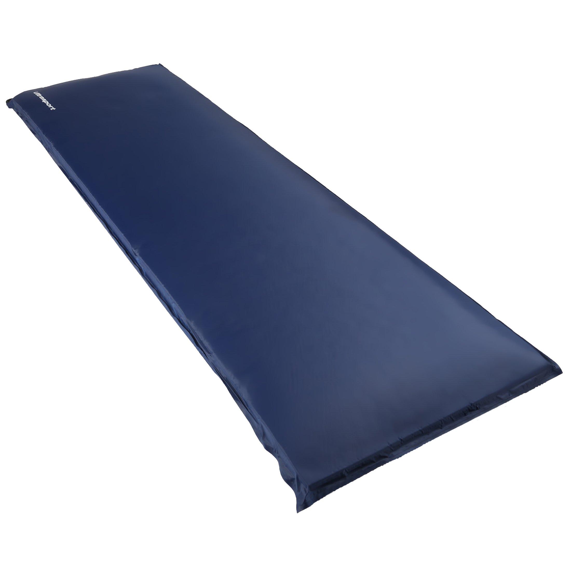 Ultrasport Aislante autoinflable / colchoneta autoinflable, ideal para el camping, colchoneta para el exterior, ultraligera y cómoda; impermeable, colchoneta térmica en 3 grosores, plegada ocupa muy poco espacio