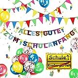 iZoeL Guirlande décorative pour rentrée des classes - Avec inscription « Alles Gute zum rentrée scolaire » - Guirlande de 40