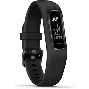Garmin vívosmart 4 - Bracelet d'activité ultra-fin avec oxymètre de pouls et cardio poignet - Noir - Taille L
