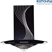 KUTCHINA Virgose 60 cm Chimney with 1100±50 M³/hr Suction, 100% Oil Collector Technology & Push Button (Kutchina Virgose 60 cm)