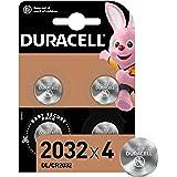 Duracell Specialty 2032 Lithium-Knopfzelle 3 V, 4er-Packung, mit kindersicherer Technologie, für die Verwendung in Schlüsselanhängern, Waagen, Wearables und medizinischen Geräten (CR2032 /DL2032)