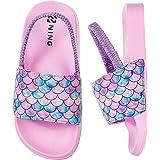 Girls Boys Summer Slippers Kids Beach/Pool Slide Sandals Toddler Little Cute Bath Slippers Kids Water Shoes Anti-Slip Flip Fl