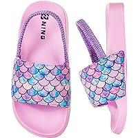 Girls Boys Summer Slippers Kids Beach/Pool Slide Sandals Toddler Little Cute Bath Slippers Kids Water Shoes Anti-Slip…