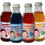 4 Confezione Multipla di Sciroppo Slushie - Mango, Fragola, Cola e Lampone Blu