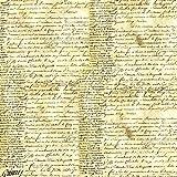 Tovagliolo Carta di riso Scrittura antica - Stamperia DFT105
