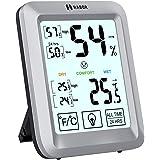 Habor Hygrometer Thermometer Innen, Raum Thermometer mit Hintergrundbeleuchtung, Touchscreen Luftfeuchtigkeitsmessgerät…