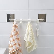 HOKIPO Magic Sticker Series Self Adhesive Bathroom Towel Hanger Hook Rail