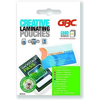 GBC Pochettes De Plastification Format Carte Visite Brillant 2x125 Microns Lot