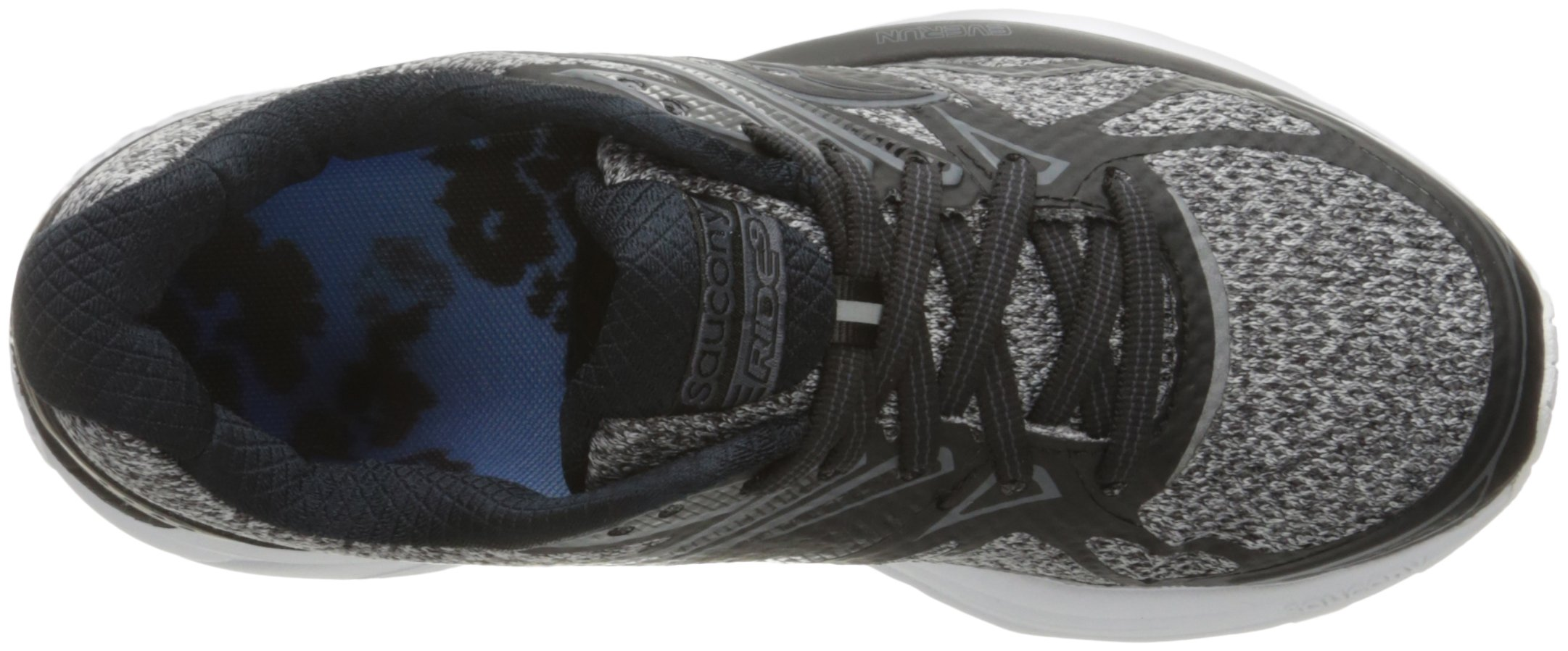 71eZ0L4n7pL - Saucony Women's Ride 9 Lr Running Shoe, Grey/Black, 5 M US