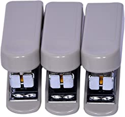 Kangaro Mini-10 Stapler - Pack of 3 for School or Office Use-Grey