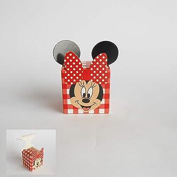 Bomboniera Scatola cubo Confetti inserto Minnie Disney rosso set 20 pz art 68022