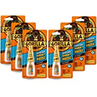 Gorilla Super Glue 2-in-1 Brush & Nozzle Clear 12g (Pack of 6)