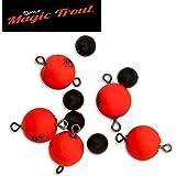 Quantum Magic Trout Float Connector Swivel rot 10mm - 5 Wirbel schwimmend, Forellenwirbel, Pilotwirbel, Angelwirbel für Forellen