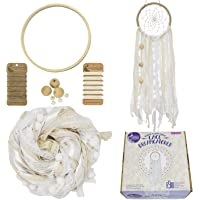 Asian Hobby Crafts Lace Dream Catcher Kit – Make one Complete lace Dream Catcher with The Contents of This kit (White)