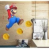 BOARA Muursticker, Muurschilderingen Mario, Muurtattoo Super Mario Pattern 799mmX 580mm