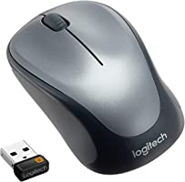 Logitech M235 Wireless Mouse for Windows and Mac - Black/Grey