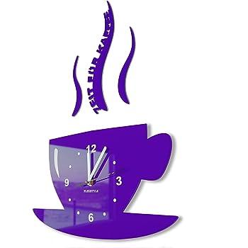 Tasse zeit f r kaffee moderne k chenuhr for Moderne kuchenuhren