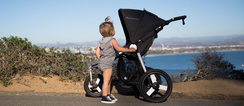 Bumbleride Speed All terrain Jogging Stroller - Dawn Grey Mint Bumbleride  11