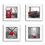 ArtzFolio Wall Photo Frame White 6x6inch;Set of 4 PCS