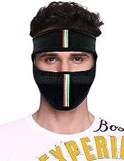 Suraj Fashions Anti Pollution Dust Sun Protection Half Ninja Face Cover Mask (Black, SM07BKFM)