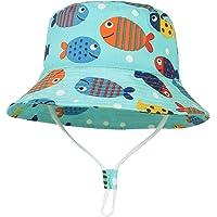 GEMVIE Cappello da Sole Neonato Bucket Hat Anti-UV Cappello Pescatore Bambino Bambina Estivo Protezione Solare per…